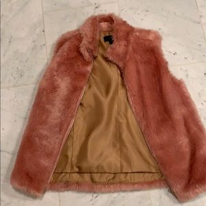 Faux fur vest from jcrew